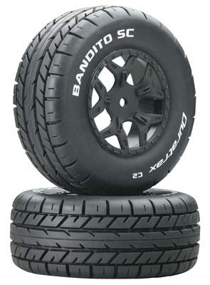 Bandito SC Tire C2 Mounted Losi Ten SCTE 4x4 (2)