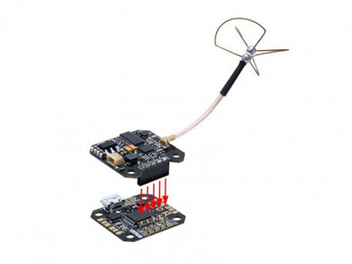 FuriousFPV INNOVA OSD-VTX Board 20x20mm (Antenna Not Included)