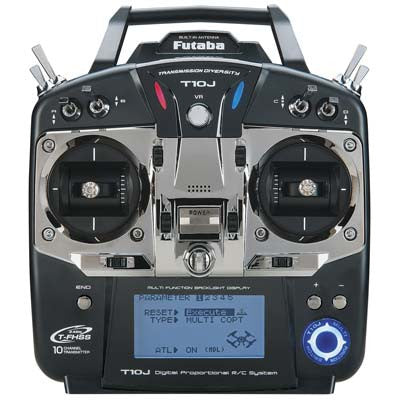 Futaba 10JA 10-Channel 2.4GHz Mode 2 Air T-FHSS Computer Radio Transmitter with R3008SB Receiver
