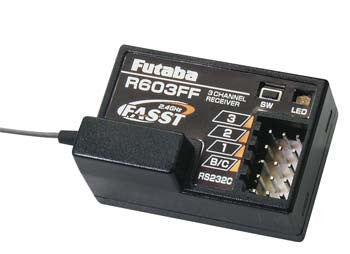 Futaba R603FF 3-Channel FASST 2.4GHz Receiver (Rx) for 3PM, 3PK, 4PK