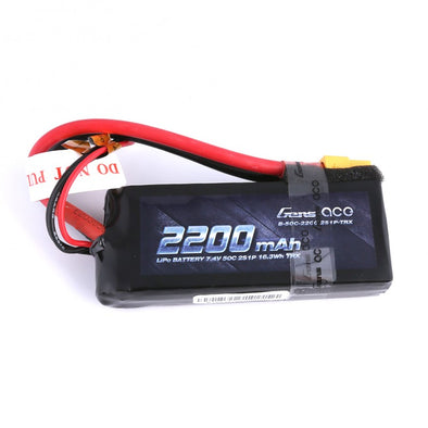 Gens Ace 2200mAh 2S1P 7.4V 50C LiPo XT60 Plug Soft Case 87.2x34x20mm With traxxas adapter