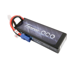 Gens ace 5000mAh 7.4V 50C 2S1P HardCase Lipo Battery Pack 24# with EC5 Plug
