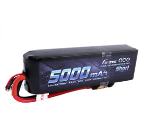Gens ace 5000mAh 11.1V 50C 3S1P Short-Size Lipo Battery Pack with XT60 Plug+ TRX ADAPTER