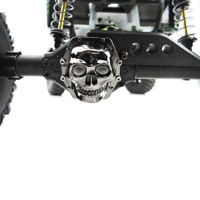 WRA12CT01 Metal Skull AR60 Diff Cover Black Chrome Wraith