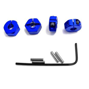 SLF1006 Blue Aluminum Locking 12mm Wheel hex Kit