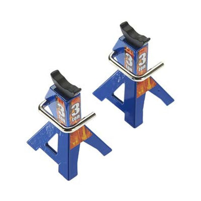 C25386BLUE Jack Stands 1/10 1/8 Scale/Rock Crawlers (2)