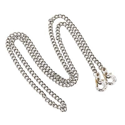C26493SILVER 1/10 Metal Drag Chain w/Tow Hooks Off-Road