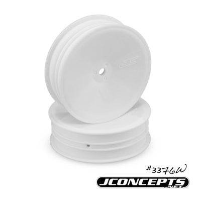 "3376W JConcepts Mono - 2.2"" 1/10th buggy, slim front wheel - white"