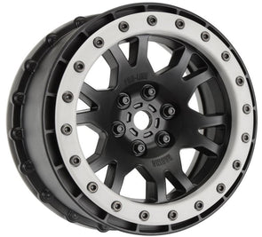 2763-03 Impulse Pro-Loc Black Wheels with Stone Gray Rings for X-MAXX