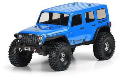"Pro-Line Jeep Wrangler Unlimited Rubicon Clear Body 12.8"" Wheelbase TRX-4"