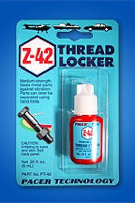 ZAP Z-42 BLUE THREADLOCKER - .2 OZ.