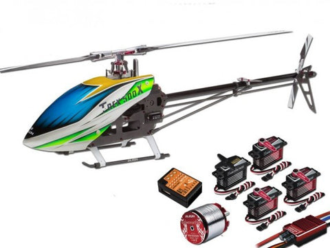 Align T-Rex 500X Dominator Super Combo Helicopter with DS530M/DS535M Metal Case Servos
