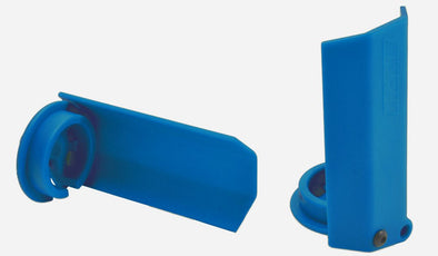 80435 RPM Black Shock Shaft Guards for the Traxxas X-Maxx - Blue
