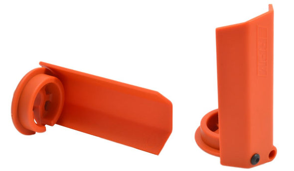 80438 RPM Black Shock Shaft Guards for the Traxxas X-Maxx - Orange