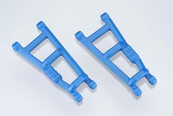 80185 Rear A-Arms Blue Electric Rustler/Stampede (2)
