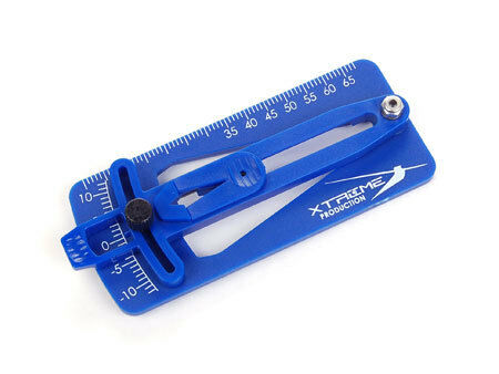 Micro Pitch Gauge (for 200-250 size Heli), Blue