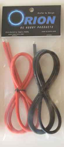 10 GAUGE (AWG) WIRE - RED/BLK - 1 METER EACH
