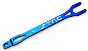 ST3727B Alum Pro Racing Battery Strap Blue Slash