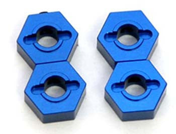 ST1654B CNC Mach Alum Hex Adapters Slash 4x4 Blue