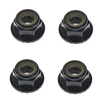 TKR1215 Locknut M5 Aluminum/Flanged/Serrated Black (4)