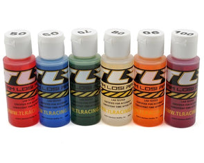TLR74021 Shock Oil 6Pk, 50,60,70,80,90,100, 2oz