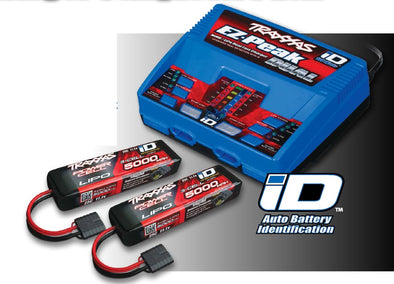 Traxxas EZ-Peak Dual Completer Pack 11.1V 3Cell 25C Lipo Batteries with 2x 5000mAh