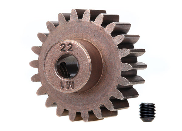 6495X Traxxas Steel Mod 1.0 Pinion Gear w/5mm Bore (22T)