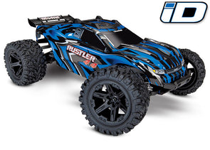 Traxxas Rustler 4X4 1/10 4WD StadiumTruck RTR Brushed with 7-cell NiMH 3000mAh and DC Charger Blue