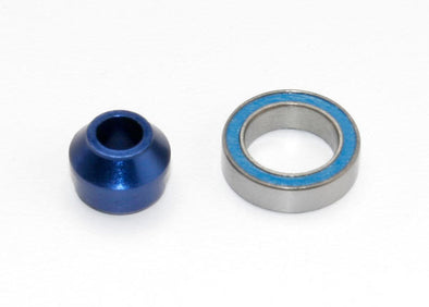 6893X Traxxas Bearing adapter, 6160-T6 aluminum (blue-anodized) (1)