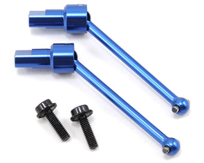 7650R Driveshaft Asmbly, Front/Rear,Blue Alum, 2pc:Teton