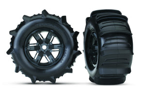 Traxxas Tires & Wheels, Assembled, Glued X-Maxx Left & Right