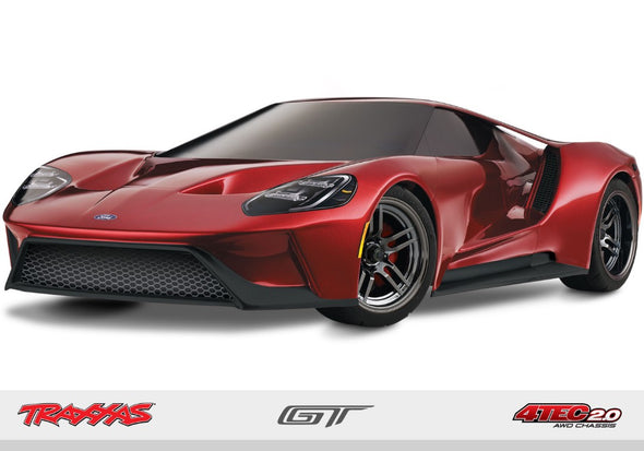 Traxxas Ford GT 1/10 Scale AWD Red Supercar