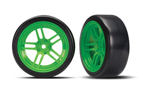 Traxxas Tires and wheels, assembled, glued (front) TRA8376G