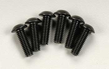 3937 Screws, 4x12mm button-head machine (hex drive) (6)