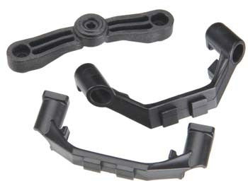 5343X Mount, steering arm/ steering stops (2) (lower hinge pin retainer) (includes standard and maximum throw steering stops)