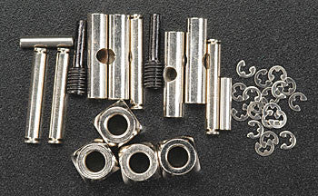 5452 U-joints, driveshaft (carrier (4)/ 4.5mm cross pin (4)/ 3mm cross pin (4)/ e-clips (20)) (metal parts for 2 driveshafts)