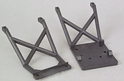 Traxxas Skid plates, front & rear (black)