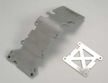 4938A Skid Plate Re Plastic Gray/SS Plate