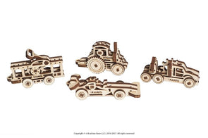 UGEARS U-FIDGETS-TRIBIKS VEHICLES (4 models) - 18 pieces