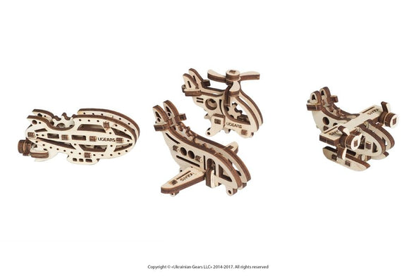 UGEARS U-FIDGETS AIRCRAFTS (4 models) - 10 pieces