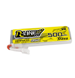 Tattu 500mAh 3.7V 95C 1S1P Lipo Battery Pack with JST-PHR Plug