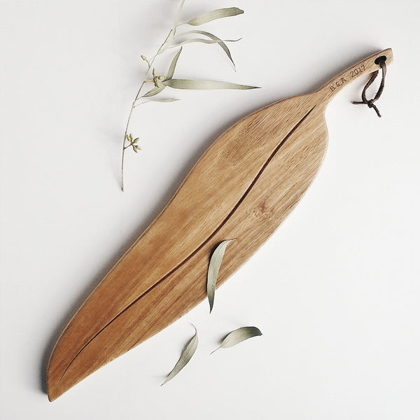 Personalised Large Gumleaf Australian Hardwood Serving Board