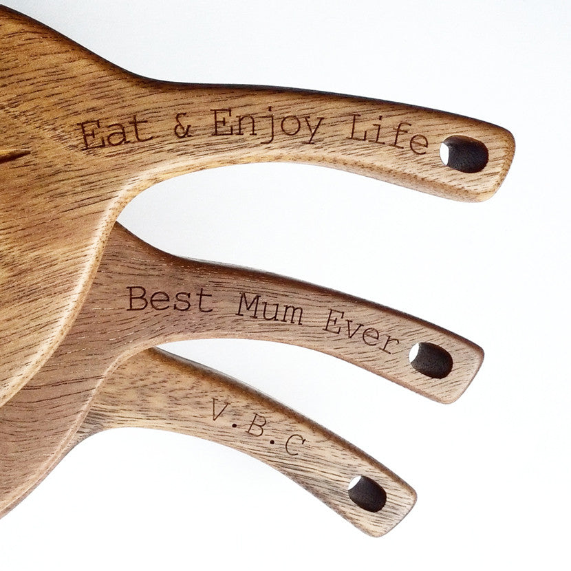 Personalised Gumleaf Serving Board crafted from Australian Spotted Gum hardwood.