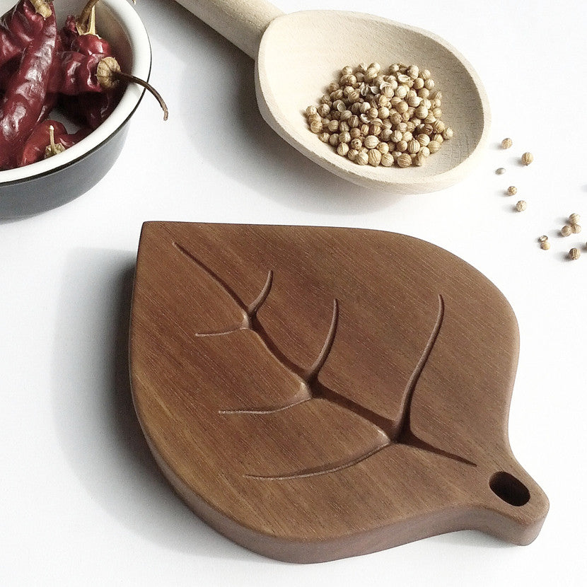 Handcrafted Australian hardwood Gumleaf Spoon Rest by Manual Arts DEpt.