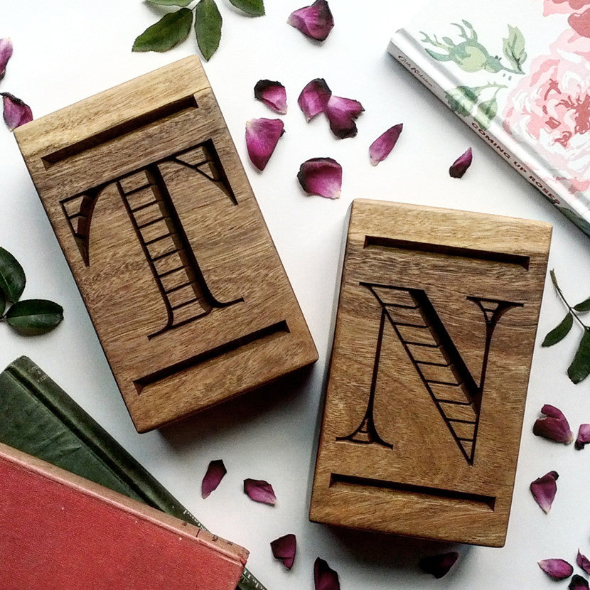 Personalised Hardwood Bookends crafted from Australian hardwood - a beautifully engraved keepsake wedding gift.