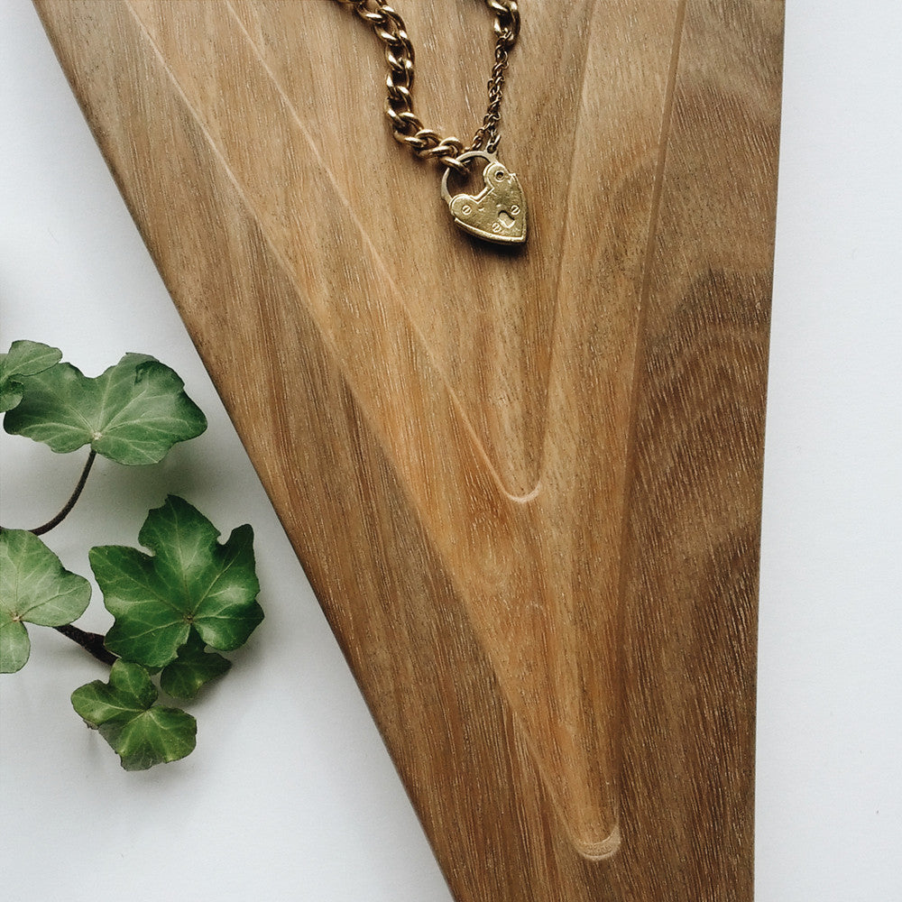 Personalised Raindrop Australian Hardwood Tray - a hand-sculpted design object as well as a personalised jewellery dish to last a lifetime.