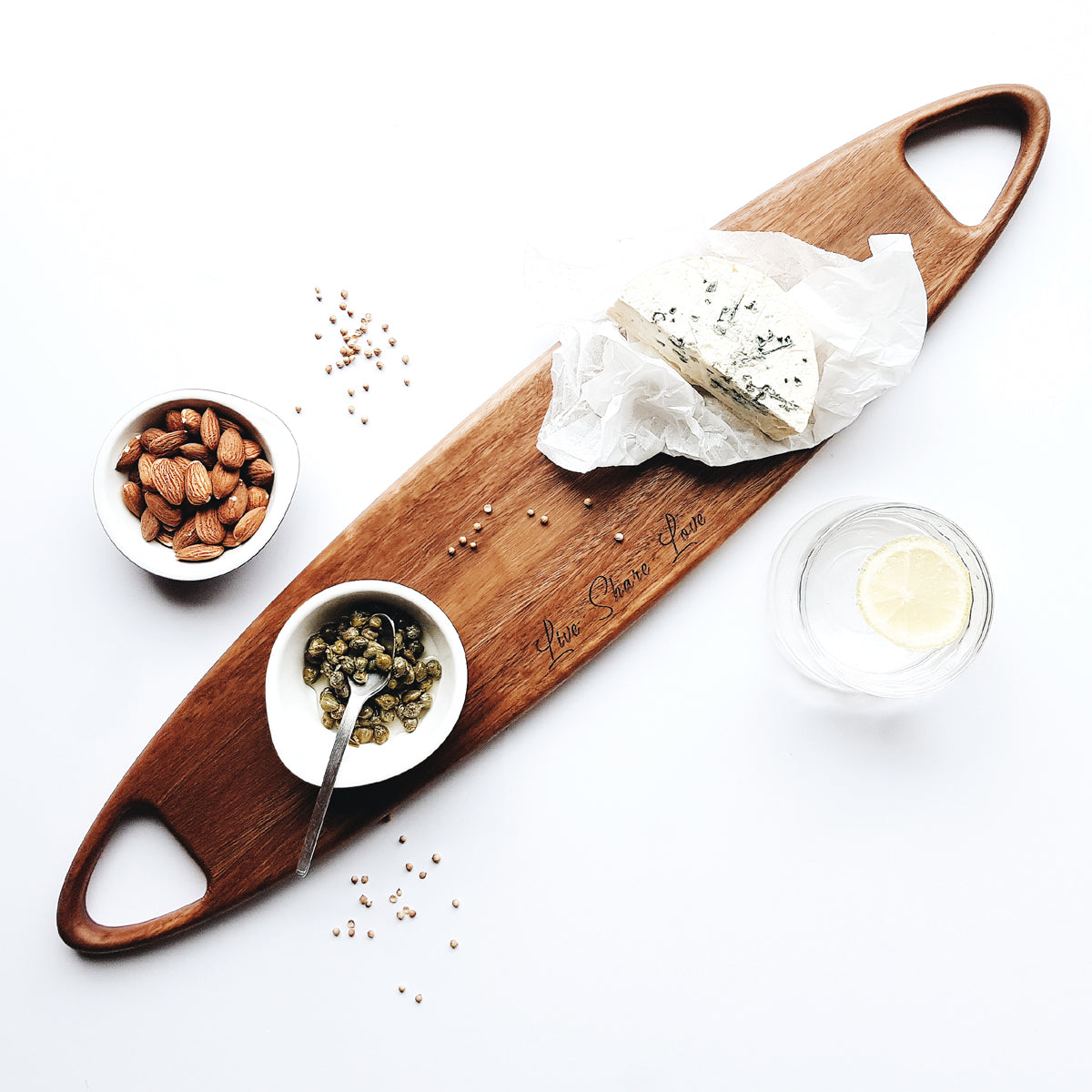 Personalised Stylus cheese board designed and handcrafted in Australia by Manual Arts DEpt.