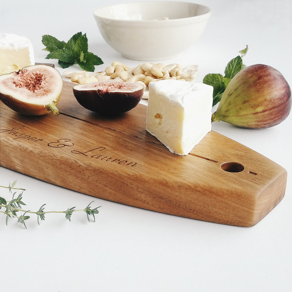 Personalised Longboard Australian Hardwood Serving Platter - Australian designed and made.