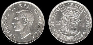 1941 South Africa 2 1/2 Shillings- EF-AU-Scarce. - J.V. Bond Company