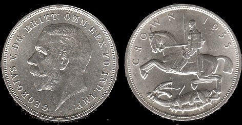 1935 British Silver Crown-Br-Unc-Scarce. - J.V. Bond Company